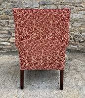 Victorian Mahogany Framed Wing Armchair (6 of 15)