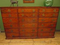 Substantial Antique Bank Of 18 Shop Drawers (16 of 25)