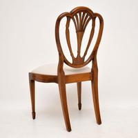 Set of 6 Antique Mahogany Sheraton Style Dining Chairs (4 of 9)
