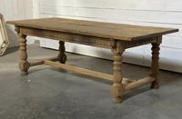 Superb Quality Large Bleached Oak Farmhouse Dining Table (16 of 32)