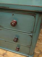 Antique Small Green Painted Chest of Drawers, Bohemian Peacock Green Shabby Chic (12 of 16)