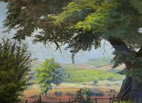 'Lincolnshire Summer' - Fine Mid Century English Landscape Watercolour Painting (7 of 11)