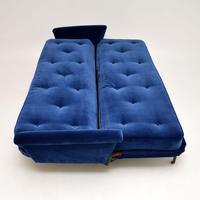 1950's Vintage Velvet Sofa Bed (4 of 12)