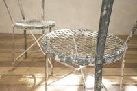 Charming Pair of Small French Metal Garden Chairs (6 of 13)