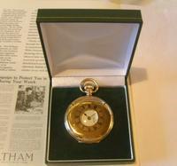 Antique Pocket Watch 1922 Swiss Vertex 7 Jewel Half Hunter 10ct Gold Filled Fwo (12 of 12)