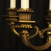 French Gilded Bronze 6 Light Antique Chandelier (8 of 10)