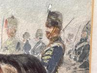 Military Watercolour Prince of Wales Own 10th Royal Hussars Guard on Horseback by Henry Martens c.1850 (33 of 53)
