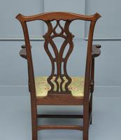 Elegant Chippendale Revival Mahogany Elbow Chair (6 of 13)