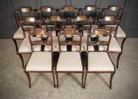 Set of 12 Regency Brass Inlaid Dining Chairs (18 of 20)