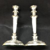 Pair of Old Sheffield Plate Candlesticks (3 of 5)