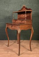 French Inlaid Rosewood Ladies Writing Table (5 of 8)