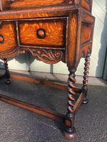 Antique Oak Barley Twist Cabinet on Stand (9 of 10)