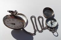 Victorian Solid Silver Omega Gurzelen Pocket Watch & Solid Silver Albert Chain (8 of 8)
