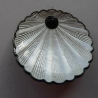 Silver & Enamel Norwegian Shell Brooch (5 of 9)