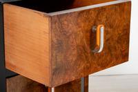 Stylish Pair of Burr Walnut Art Deco Bedside Cabinets (4 of 7)