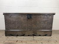 Antique Carved Oak Coffer or Blanket Box (2 of 11)