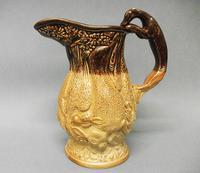 Staffordshire Salt Glazed Stoneware 'Game' Jug, c.1840 (4 of 5)