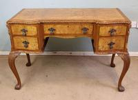 Antique Serpentine Shaped Burr Walnut Side Table (4 of 13)