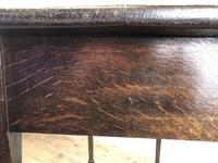 Antique 19th Century Oak Side Table (9 of 12)