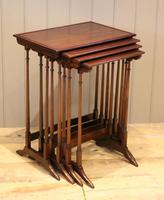 Mahogany Nest of Four Tables (7 of 11)