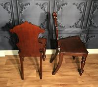 Pair of Victorian Mahogany Hall Chairs 318 (2 of 14)