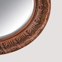 Large 19th Century Swedish Oval Carved Oak Mirror by A Lundmark (5 of 9)