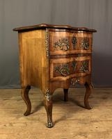 French Walnut Shaped Front Commode Chest (10 of 10)