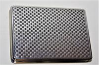 Superb & Extremely Smart Silver & Gold Snuff Box which has a very attractive chequered finish on the silver (2 of 8)