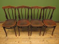 Four Antique Polish Thonet Style Bentwood Bistro Chairs with Pressed Seats (2 of 22)
