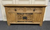 French Gothic Bleached Oak Sideboard (6 of 17)