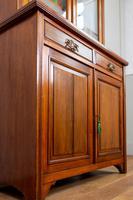 Handsome Victorian Walnut Glazed Bookcase C1890 (9 of 12)