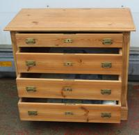 1920s Pine Chest Drawers with Brass Handles (4 of 4)