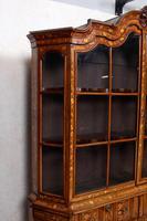 Dutch Bombe Bookcase Vitrine Display Cabinet on Chest Glazed (3 of 17)