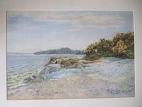 J Hamilton Maxwell RSW (1830-1923): watercolour of Bellochantruy, Kintyre, Scotland (4 of 4)
