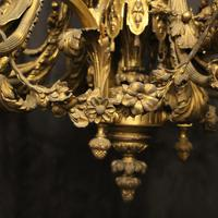 French Gilded Bronze 12 Light Antique Chandelier (12 of 12)