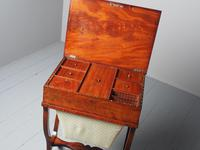 Unusual Biedermeier Inlaid Mahogany Work Box or Table (8 of 10)