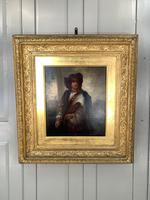 Antique Re-Raphaelite oil painting portrait of a young man with violin (2 of 2) (2 of 10)