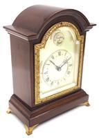 Impressive Mahogany Edwardian Bracket Clock Timepiece Mantel Clock (3 of 8)