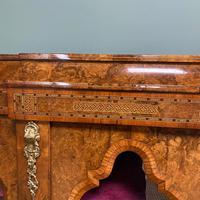 High Quality Victorian Burr Walnut Antique Credenza (6 of 10)