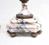 Antique Mantle Clock Set Garniture French Empire Urns (11 of 27)
