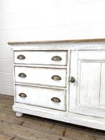 Distressed Antique Pine Cupboard with Painted Base (4 of 10)