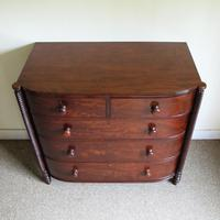 Mahogany Bow Front Chest of Drawers (2 of 6)
