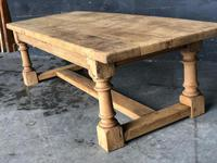 Antique Bleached Oak Coffee Table (6 of 9)
