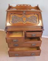 Antique Mahogany Small Bureau Writing Desk (9 of 11)