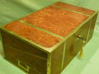 Exceptional FULLY Brass Bound Amboyna Writing Box c.1850 (15 of 15)