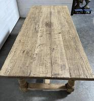 Superb Quality Large Bleached Oak Farmhouse Dining Table (14 of 32)