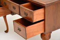 Antique Burr Walnut Leather Top Desk (6 of 10)