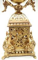 Impressive Antique Candelabra 8-day Clock Set French Striking Rococo Ormolu Bronze Mantel Clock (4 of 15)