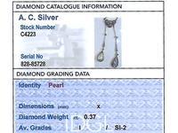 0.37ct Diamond & Pearl, 14ct Yellow Gold Pendant - Antique c.1910 (7 of 9)