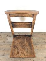 Set of Four Victorian Elm Chapel Chairs (3 of 7)